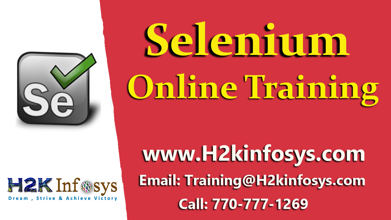 Selenium Online Training Classes