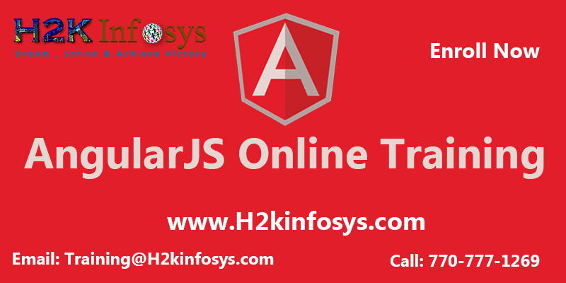AngularJS Training provided by H2K Infosys